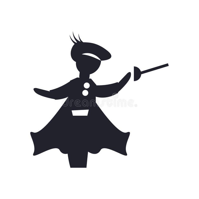 Muestra medieval y símbolo de cercado del vector del icono aislados en el fondo blanco, concepto de cercado medieval del logotipo libre illustration