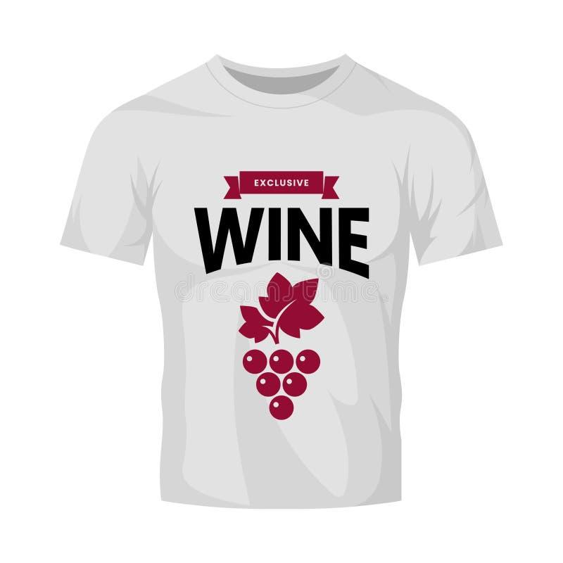 Muestra moderna del logotipo del vector del vino para la taberna, el restaurante, la casa, la tienda, la tienda, el club y el sót stock de ilustración