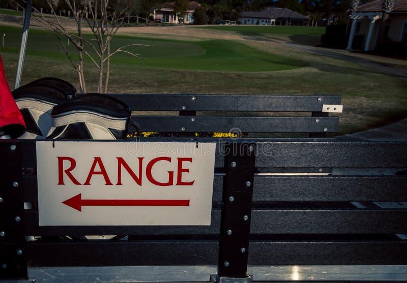 Muestra Myrtle Beach de la gama de golf fotos de archivo libres de regalías