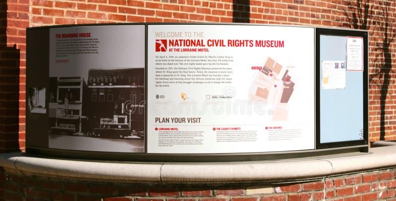 Muestra nacional del museo de las derechas civiles, Memphis Tennessee fotografía de archivo libre de regalías