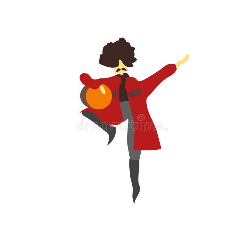 muestra nacional y símbolo del vector del vector del baile del hombre aislados en el fondo blanco, concepto nacional del logotipo libre illustration