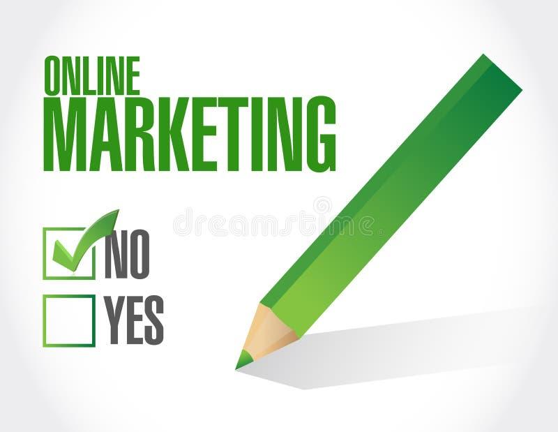 muestra negativa del márketing en línea ilustración del vector