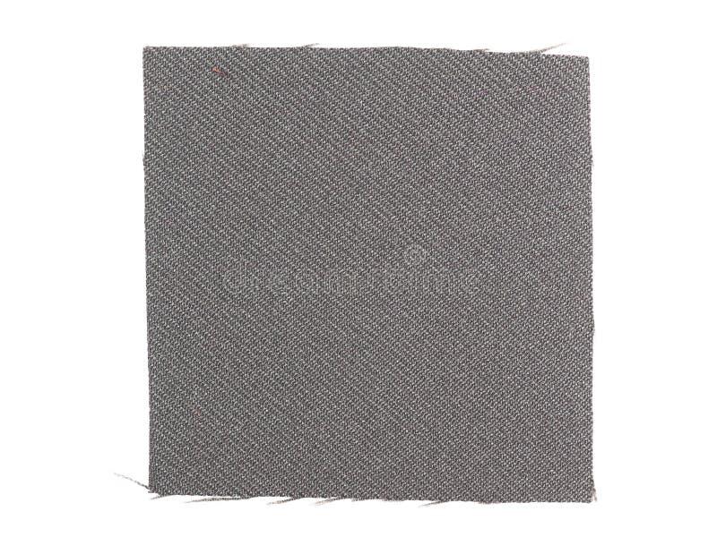 Muestra negra de la tela imagen de archivo libre de regalías