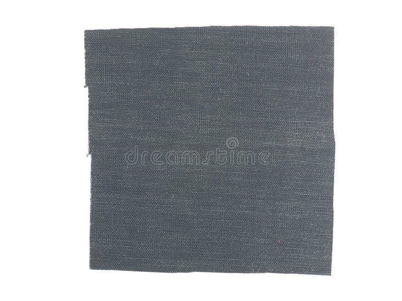Muestra negra de la tela imagen de archivo