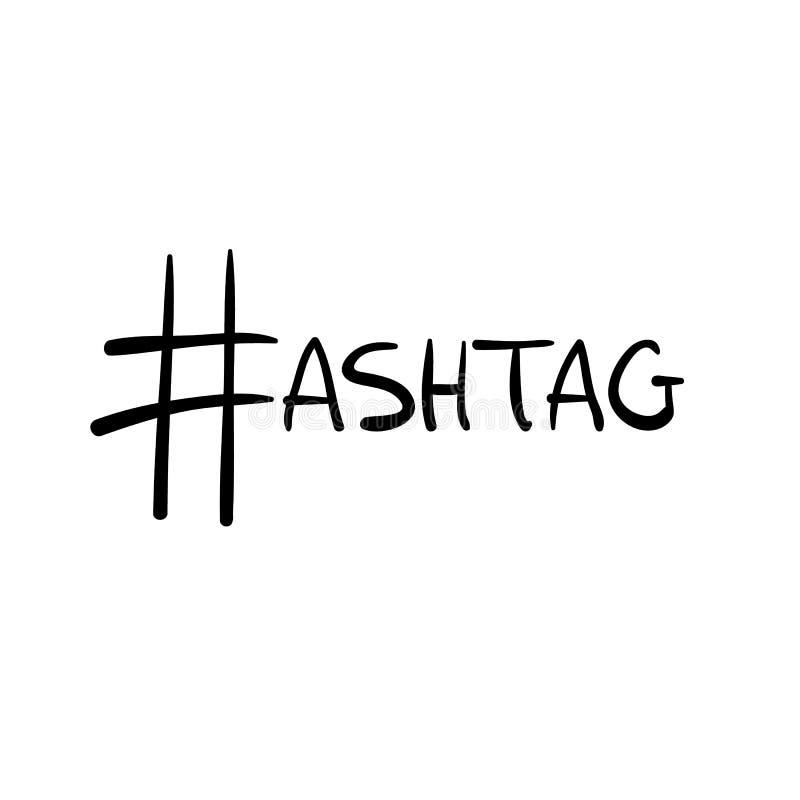 Muestra negra del hashtag del vector como letra h en palabra ilustración del vector