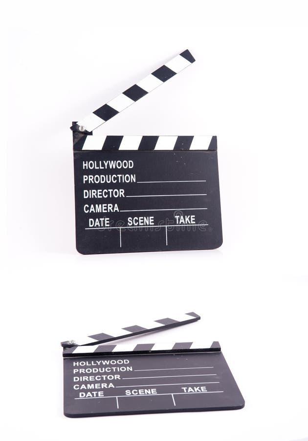 Muestra negra del marco de la cámara aislada, imagen de archivo libre de regalías