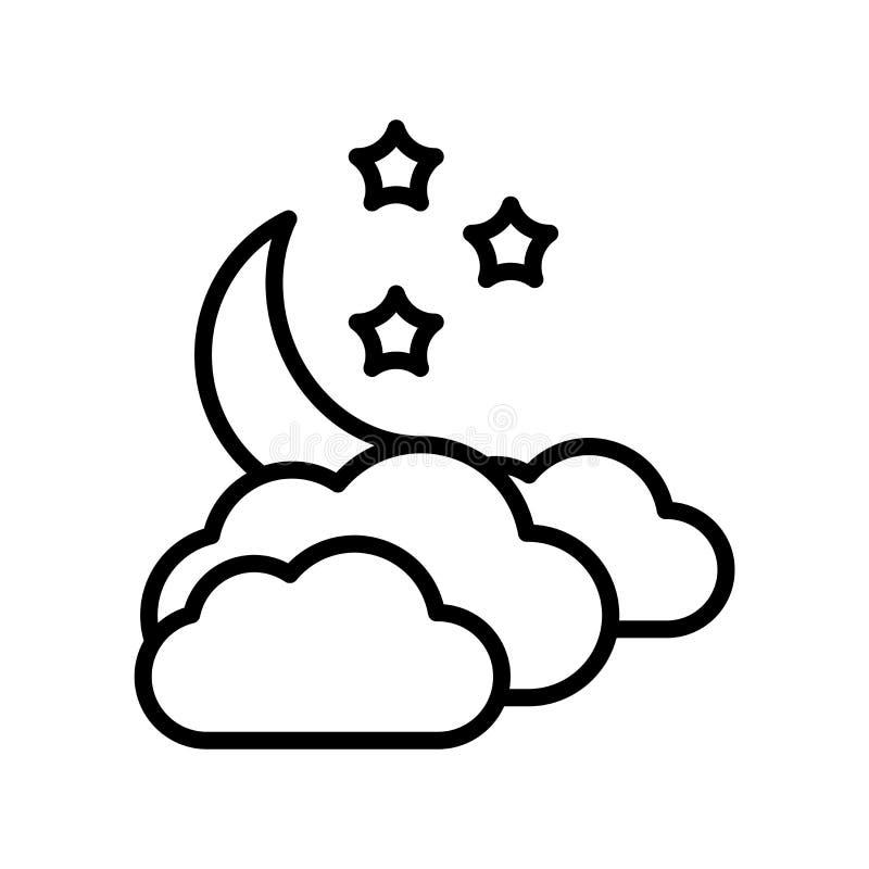 Muestra nublada y símbolo del vector del icono aislados en el fondo blanco, concepto nublado del logotipo libre illustration