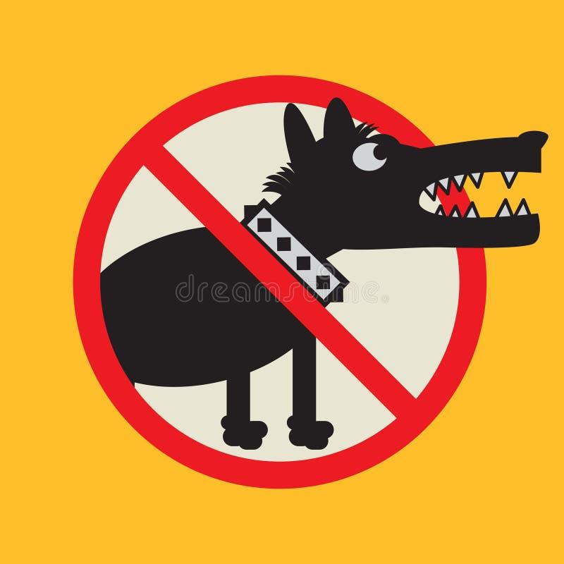Muestra o símbolo enojada del perro stock de ilustración
