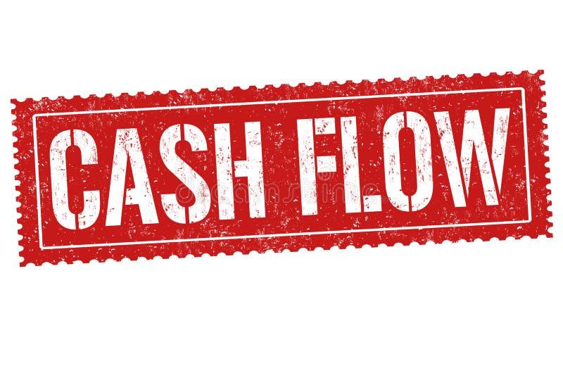 Muestra o sello del flujo de liquidez libre illustration