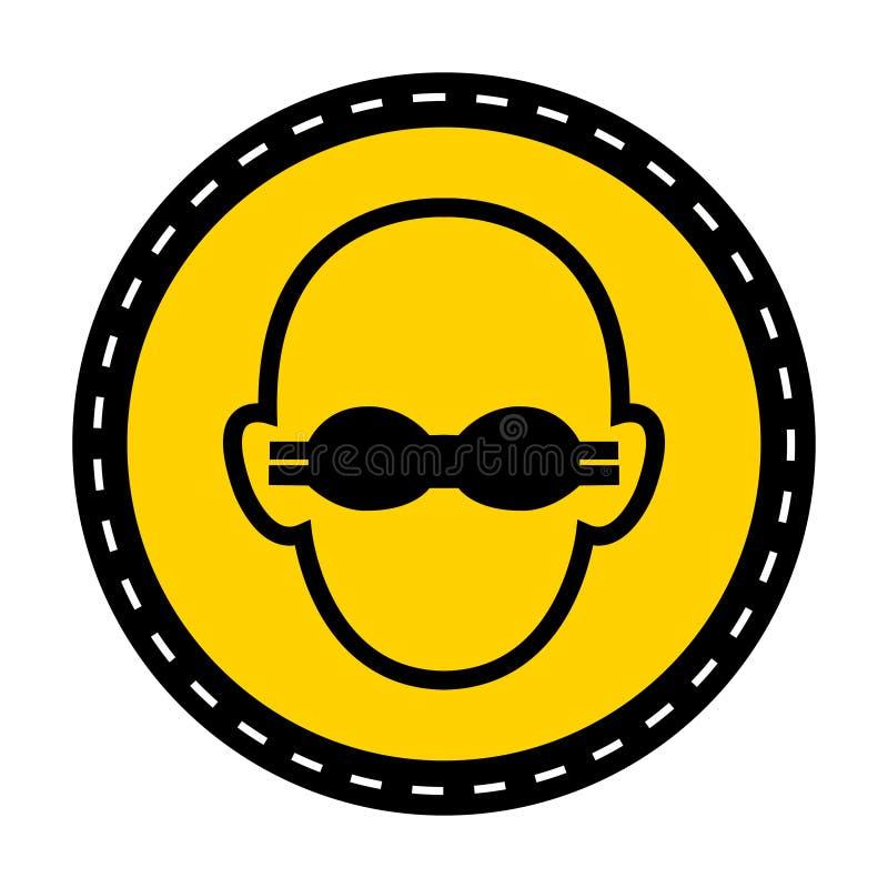 Muestra opaca de la protección ocular del desgaste del símbolo en el fondo blanco libre illustration