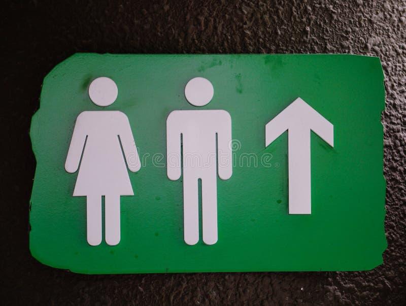 Muestra pública de los lavabos, ambos géneros imagen de archivo