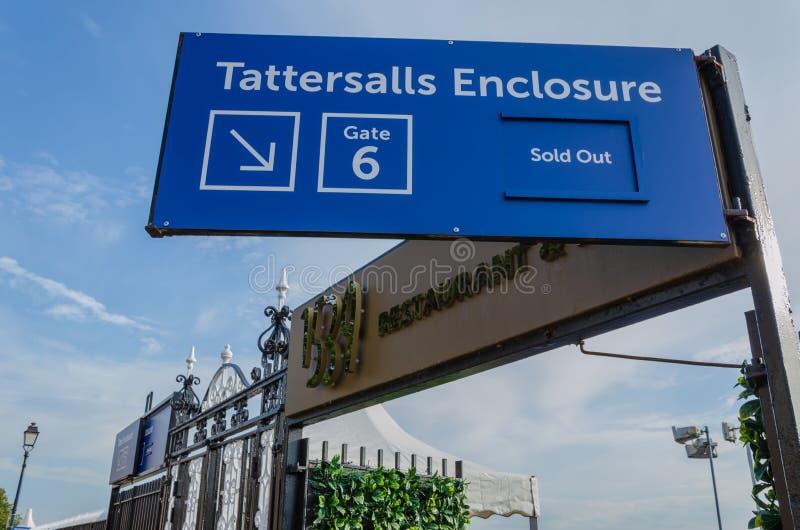 Muestra para el recinto de Tattersalls en Chester Racecourse imagen de archivo