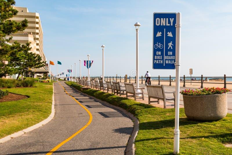 Muestra para Virginia Beach Oceanfront Bike Path fotografía de archivo libre de regalías