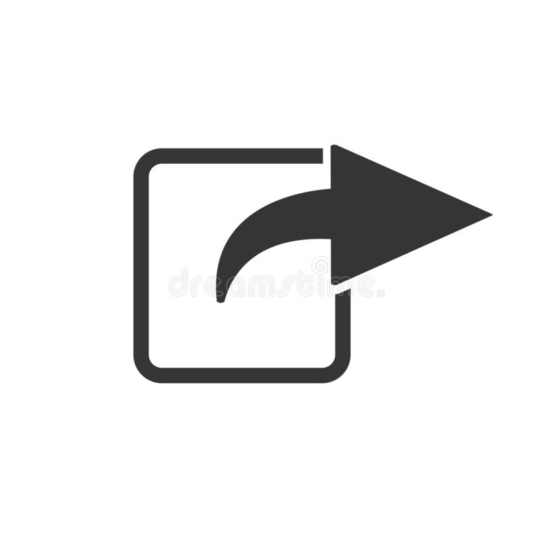 Muestra plana de la parte del icono stock de ilustración