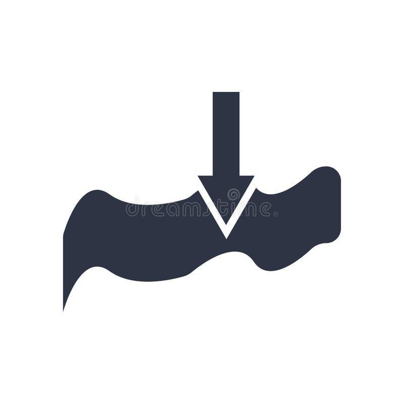 Muestra profunda y símbolo del vector del icono aislados en el fondo blanco, concepto profundo del logotipo stock de ilustración