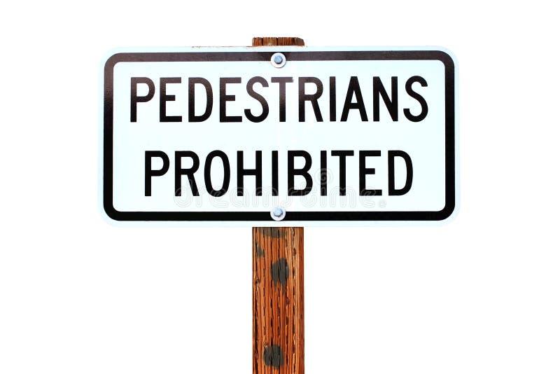 Muestra prohibida peatones imagenes de archivo