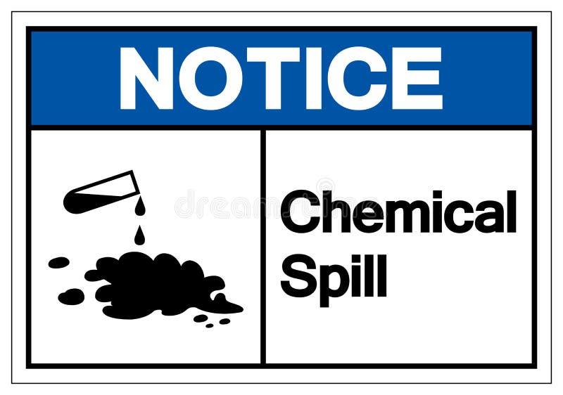 Muestra química del símbolo del derramamiento del aviso, ejemplo del vector, aislante en la etiqueta blanca del fondo EPS10 libre illustration