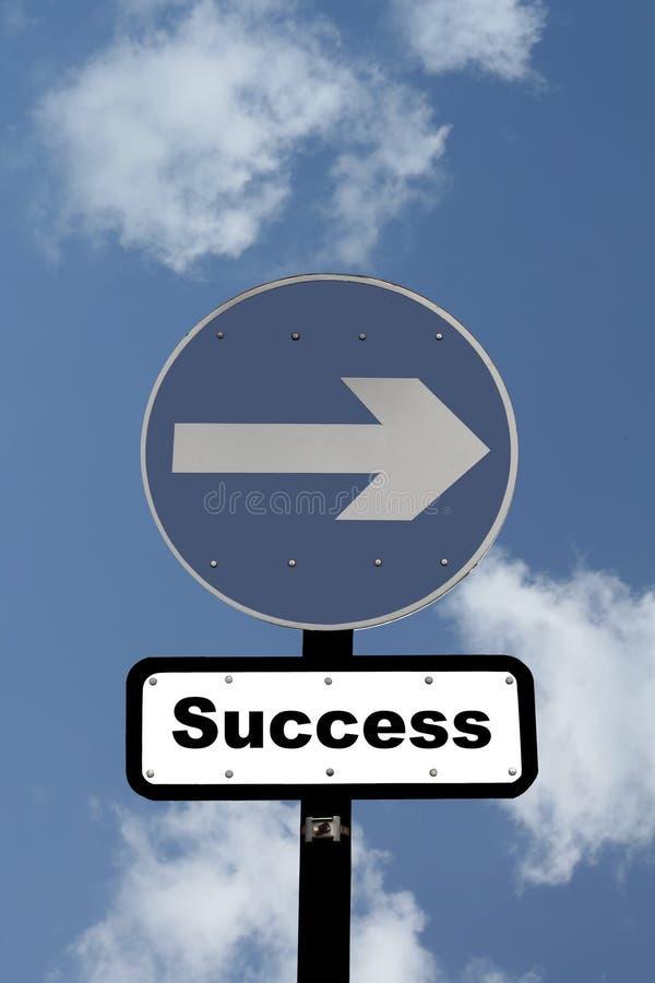 Muestra que señala la manera al éxito ilustración del vector