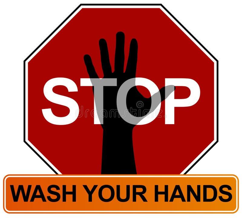 Muestra que se lava de la mano ilustración del vector