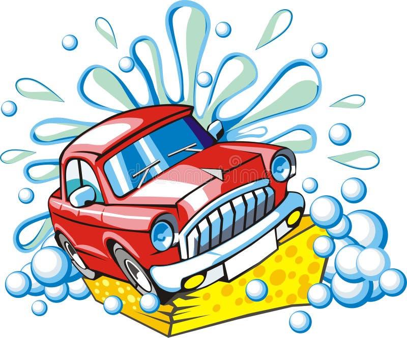 Muestra que se lava del coche ilustración del vector