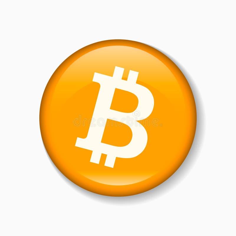 Muestra redonda de Bitcoin Ilustración del vector stock de ilustración