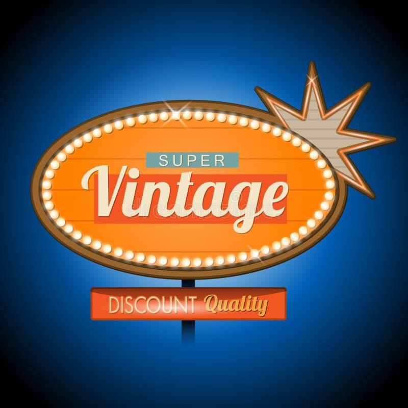Muestra retra de la bandera del motel del vintage libre illustration