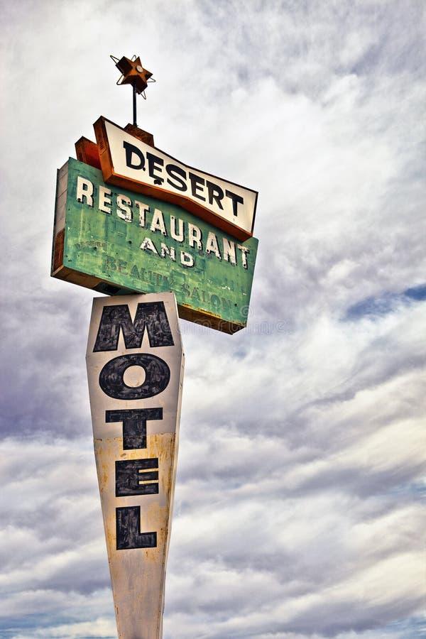 Muestra retra del motel imagenes de archivo