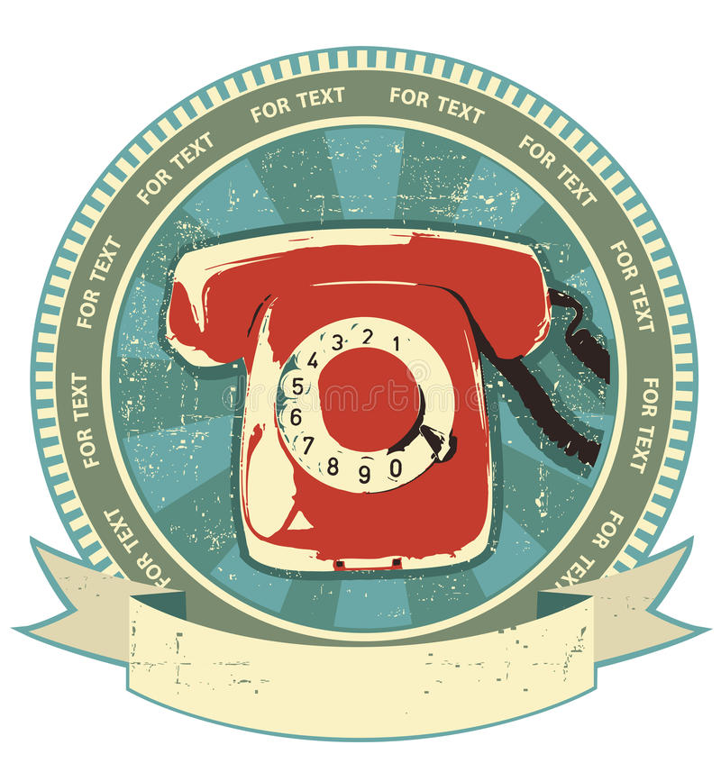 Muestra retra del telephon. Vendimia libre illustration