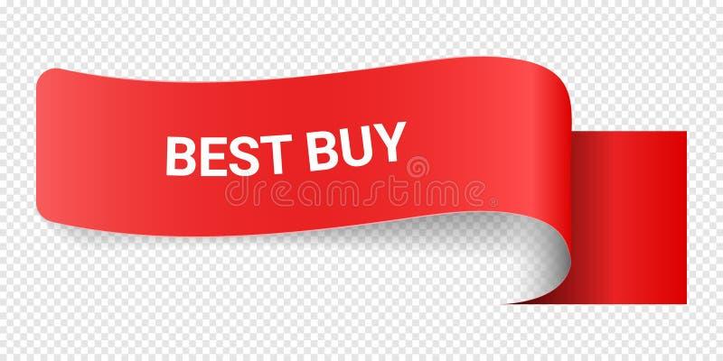 Muestra roja Best Buy del ejemplo del vector Ejemplos para el márketing de la promoción para las impresiones y los carteles, dise stock de ilustración