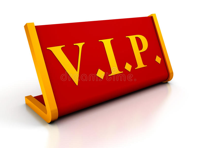 Muestra roja de la placa del vector del VIP en el fondo blanco ilustración del vector