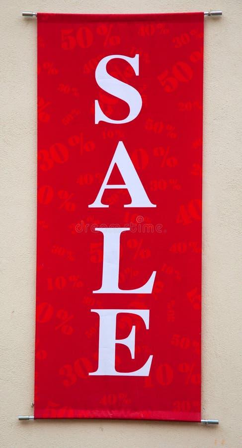 Muestra roja de la venta fotografía de archivo libre de regalías