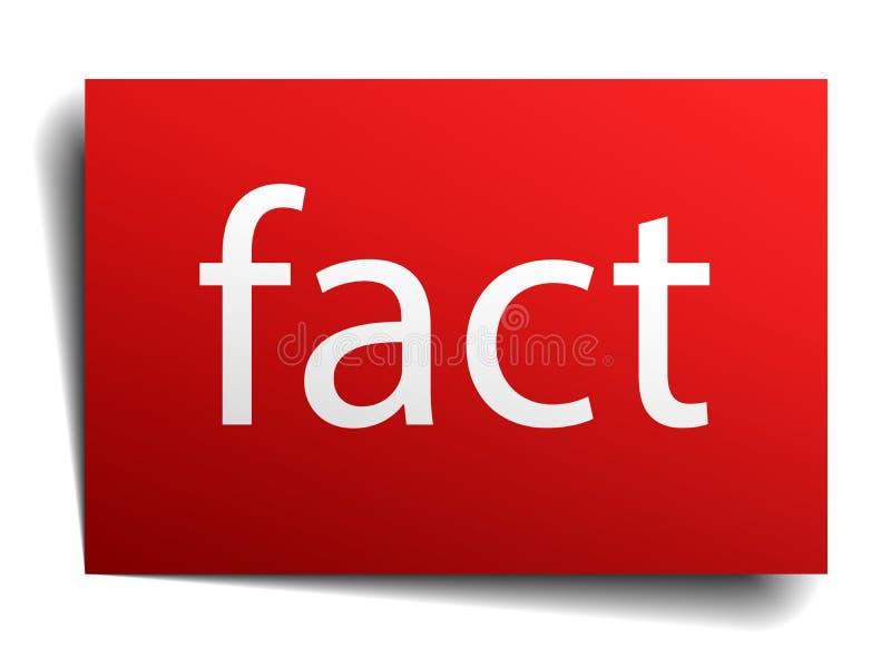 Muestra roja del papel cuadrado del hecho en blanco ilustración del vector