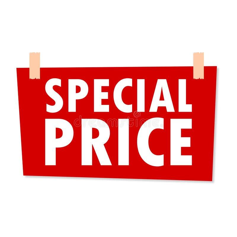 Muestra roja del precio especial ejemplo del vector for Precio logo