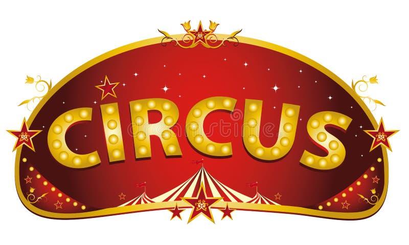 Muestra roja mágica del circo ilustración del vector