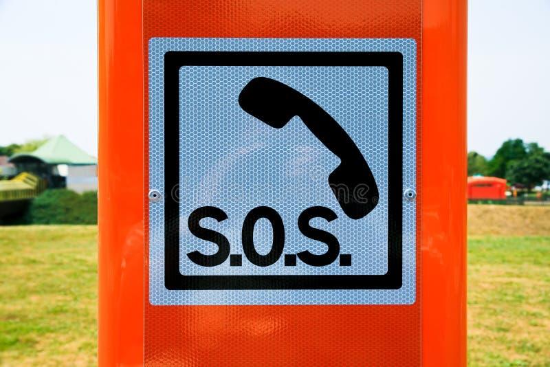 Muestra SOS fotos de archivo