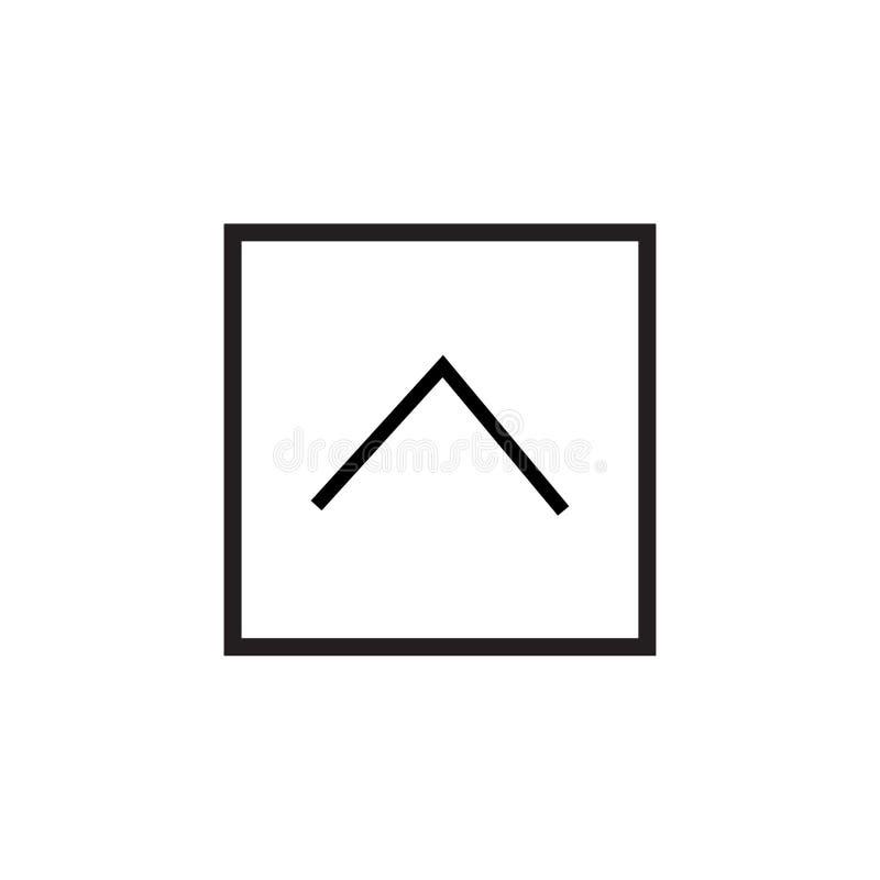 muestra superior y símbolo del vector del icono del botón aislados en el fondo blanco, concepto superior del logotipo del botón stock de ilustración