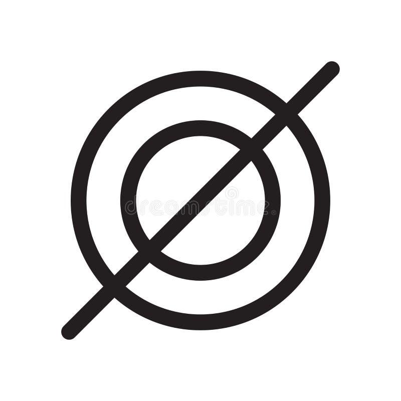 Muestra vacía y símbolo del vector del icono del símbolo determinado aislados en el fondo blanco, concepto vacío del logotipo del stock de ilustración