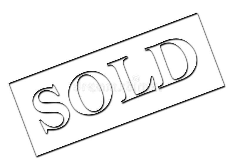 Download Muestra vendida stock de ilustración. Ilustración de label - 7278625