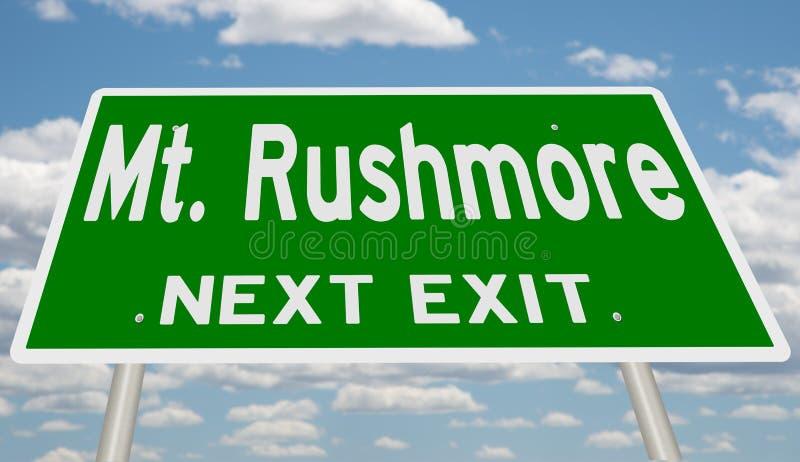 Muestra verde de la carretera para el Mt Salida siguiente de Rushmore libre illustration