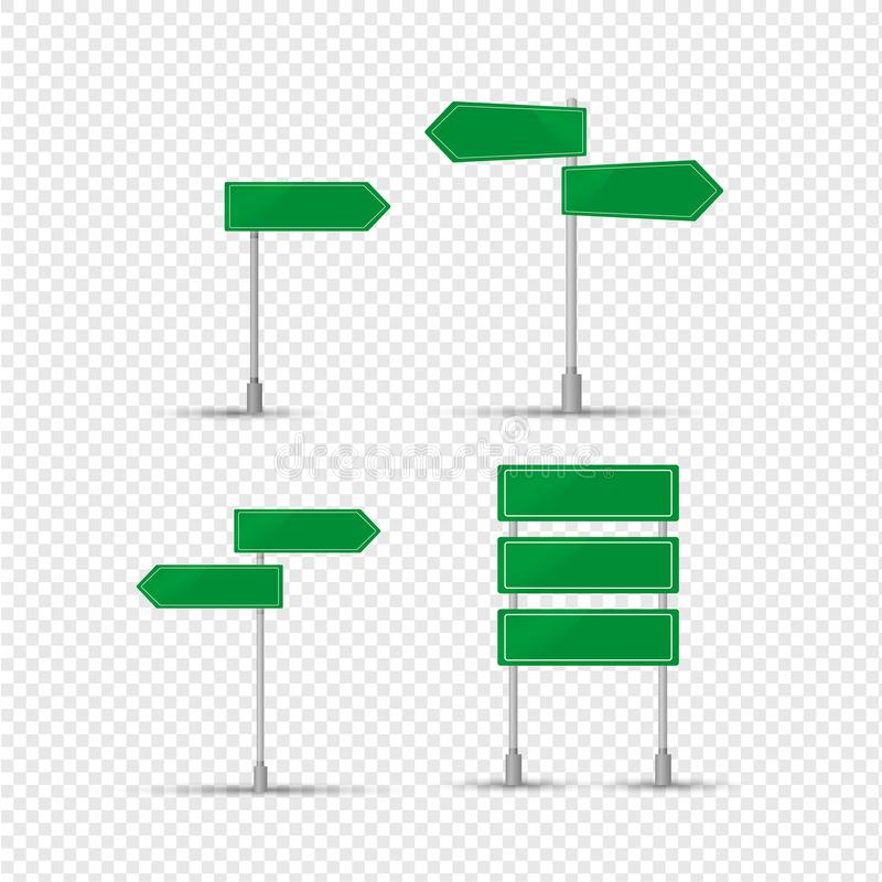 Muestra verde de la designación de acuerdos, dirección del movimiento ilustración del vector