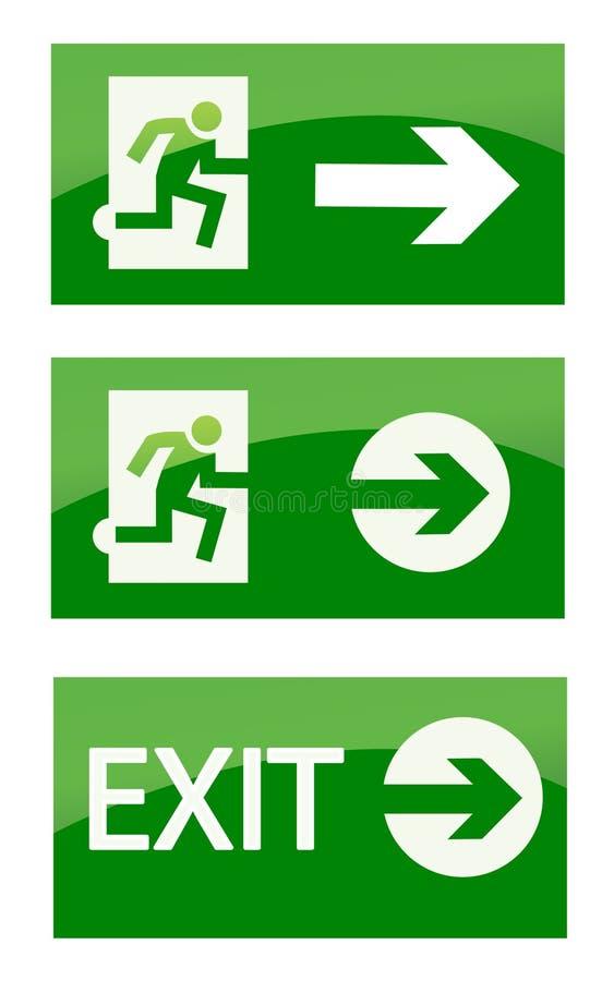 Muestra verde de la emergencia de la salida ilustración del vector