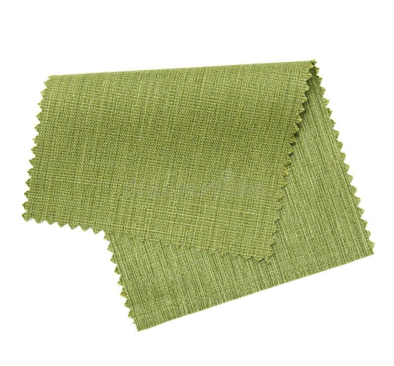 muestra verde de la tela aislada en blanco   imagen de archivo libre de regalías
