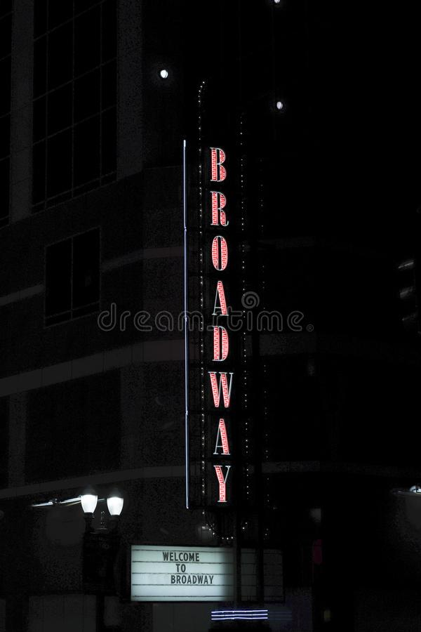 Muestra vertical de Broadway fotos de archivo