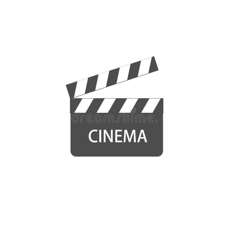 Muestra video del cine del icono stock de ilustración