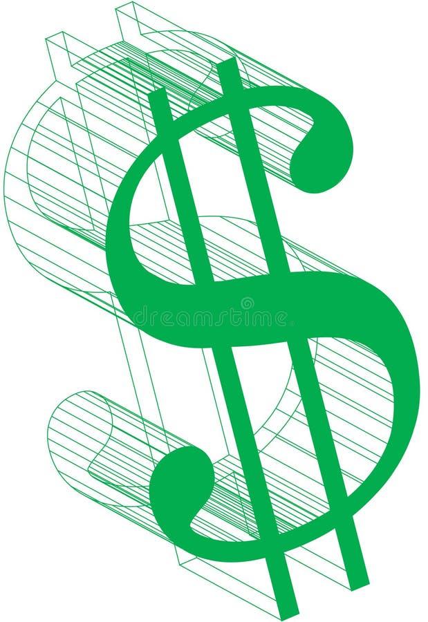 Muestra-Wireframe Del Dólar Foto de archivo libre de regalías