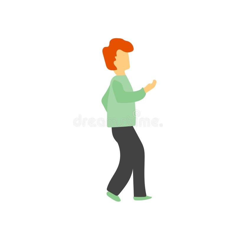 muestra y símbolo de baile del vector del vector del hombre aislados en el fondo blanco, concepto de baile del logotipo del vecto libre illustration