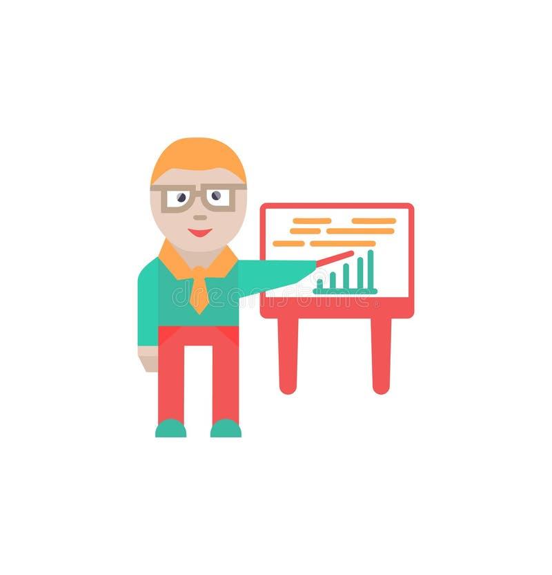 Muestra y s?mbolo de la presentaci?n del vector del icono de la presentaci?n stock de ilustración