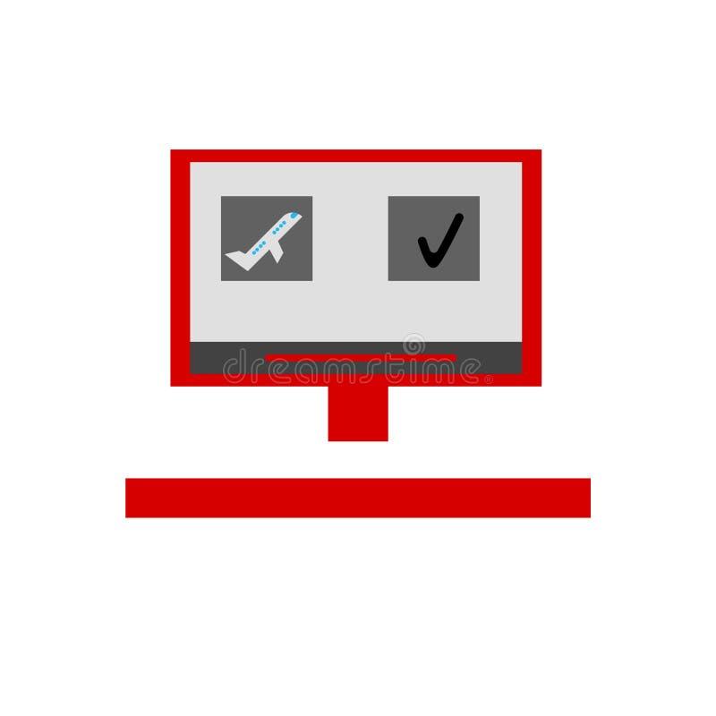 Muestra y símbolo de reservación del vector del icono aislados en el fondo blanco, concepto de reservación del logotipo libre illustration