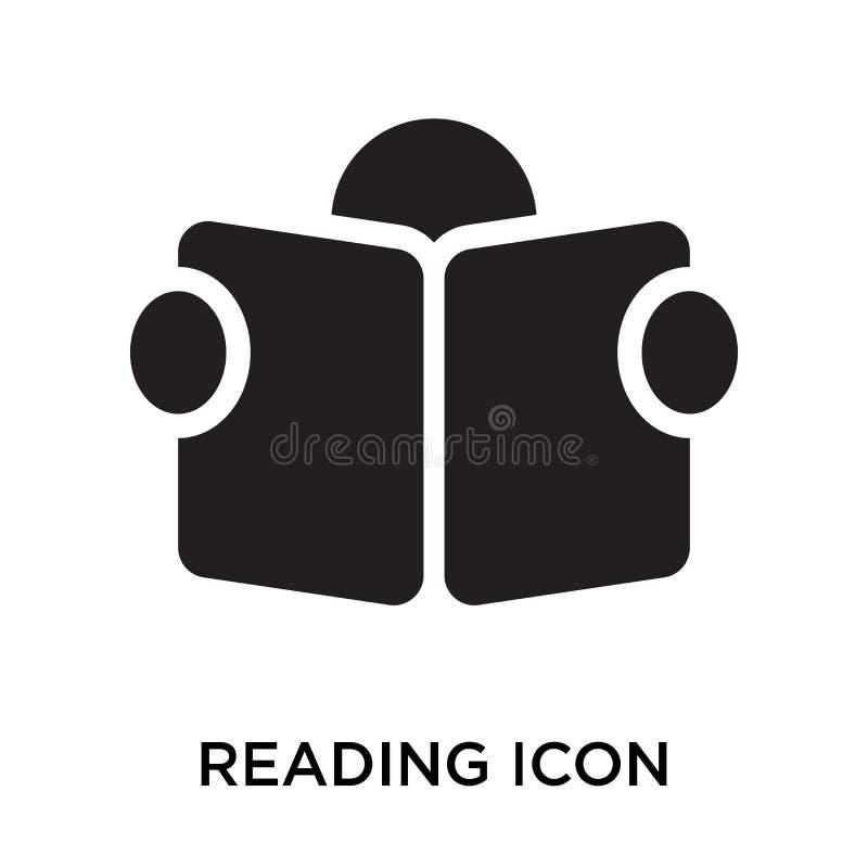 Muestra y símbolo del icono de la lectura aislados en el fondo blanco ilustración del vector