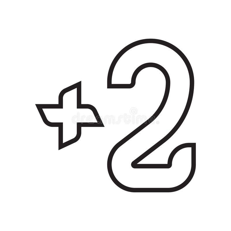 Muestra y símbolo del vector de dos iconos aislados en el fondo blanco, TW stock de ilustración